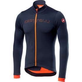 Castelli Fondo Maglia con zip intera Uomo, dark steel blue/orange
